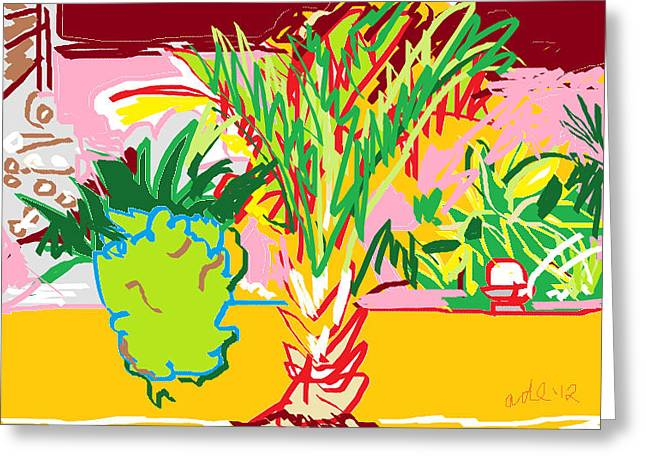 Garden Palm Greeting Card by Anita Dale Livaditis
