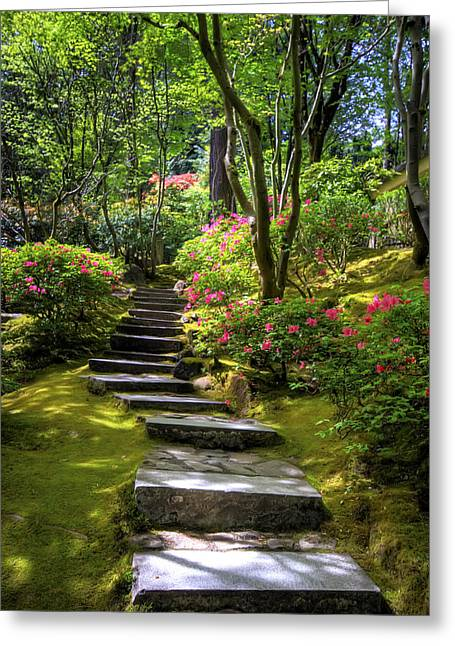 Garden Path Greeting Card by Brad Granger