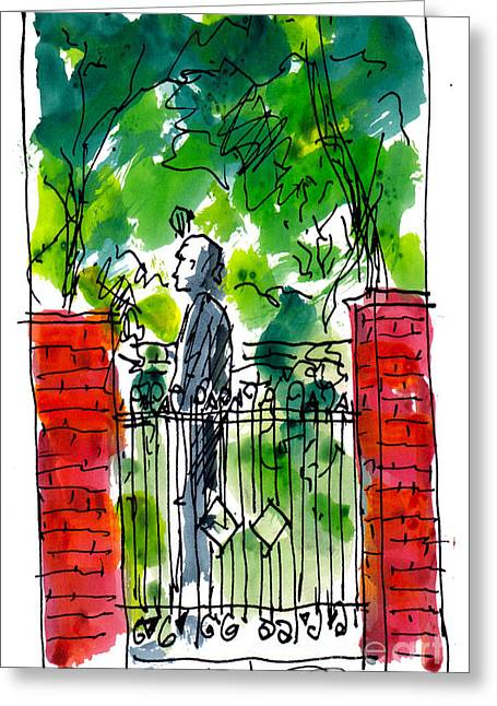 Garden Philadelphia Greeting Card