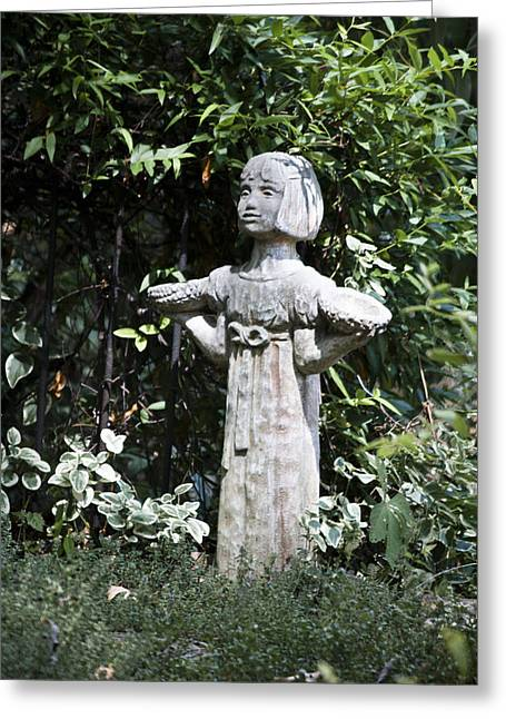 Garden Statuary Greeting Card by Teresa Mucha