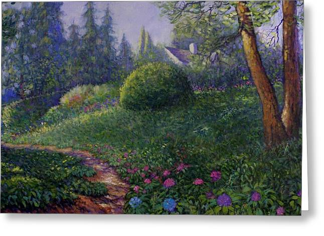 Greeting Card featuring the painting Garden Trail by Charles Munn