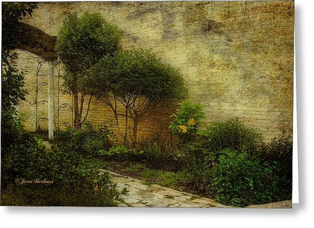 Greeting Card featuring the photograph Garden Walk by Joan Bertucci