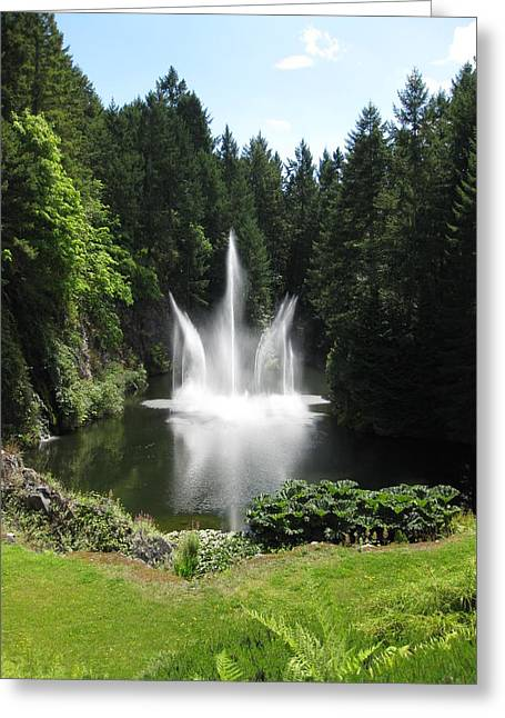 Garden Water Show Greeting Card
