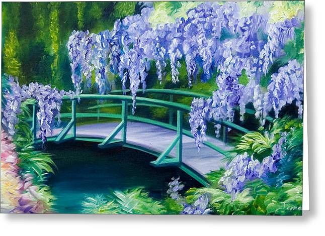 Gardens Of Givernia II Greeting Card by James Christopher Hill
