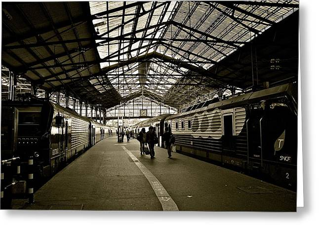 Greeting Card featuring the photograph Gare De Saint Lazare by Eric Tressler