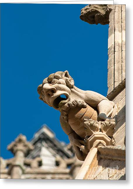 Greeting Card featuring the photograph Gargoyle by Andrew  Michael