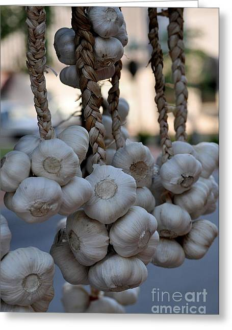 Garlic Greeting Card by Nicky Dou