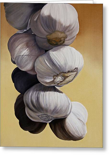 Garlic Still Life Greeting Card by Matthew Bates