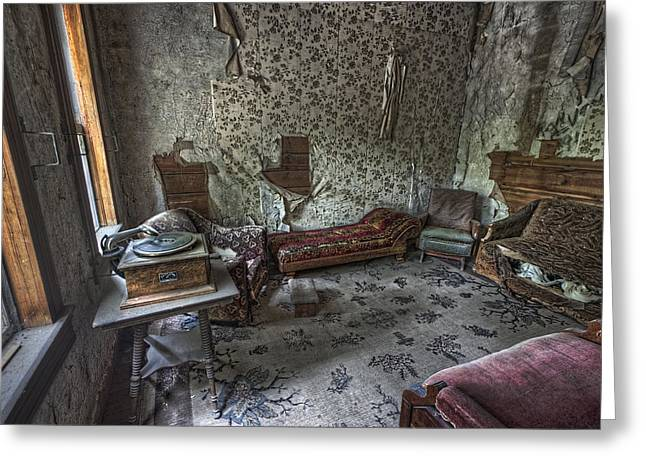 Garnet Ghost Town Hotel Parlor - Montana Greeting Card by Daniel Hagerman