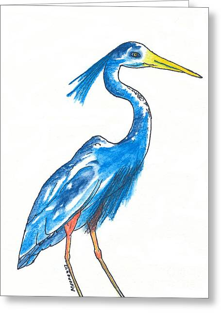 Garza Azul Greeting Card