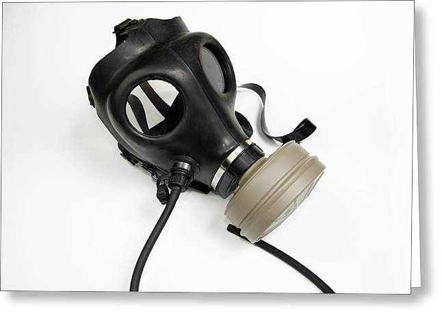 Gas Mask Greeting Card by Photostock-israel