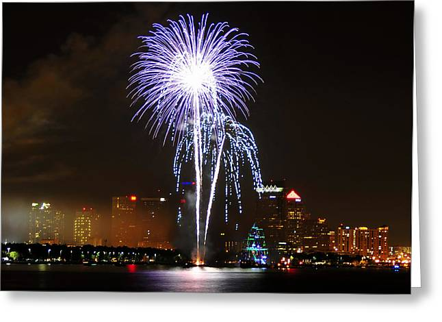 Gasparilla Fireworks Greeting Card