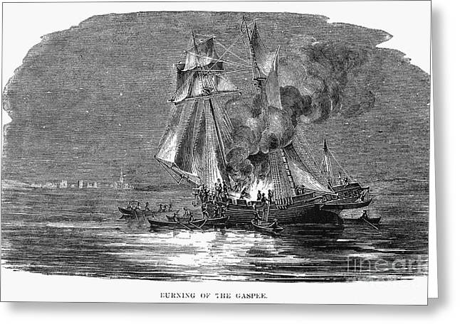 Gaspee Burning, 1772 Greeting Card