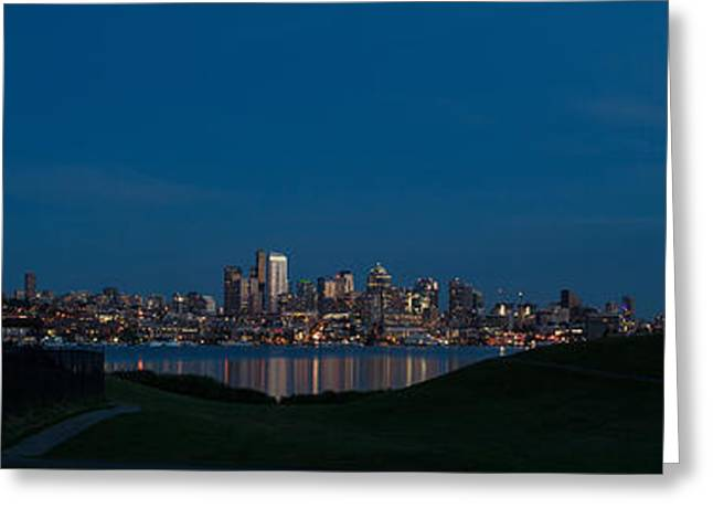 Gasworks Seattle Citiscape Greeting Card by Mike Reid