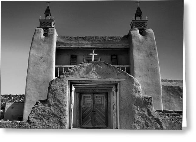 Gate To San Jose De Gracia Greeting Card by Steven Ainsworth