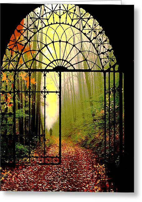 Gates Of Autumn Greeting Card by Igor Zenin