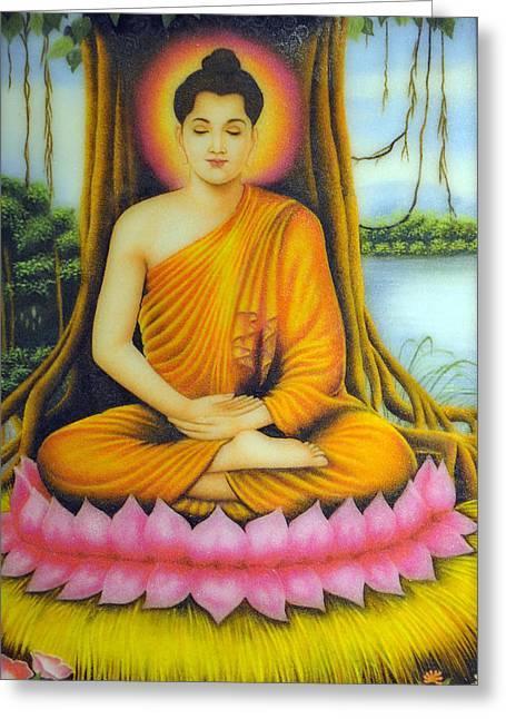 Gautama Buddha Greeting Card by Created by handicap artists