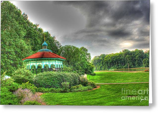 Gazebo At Eden Park Greeting Card
