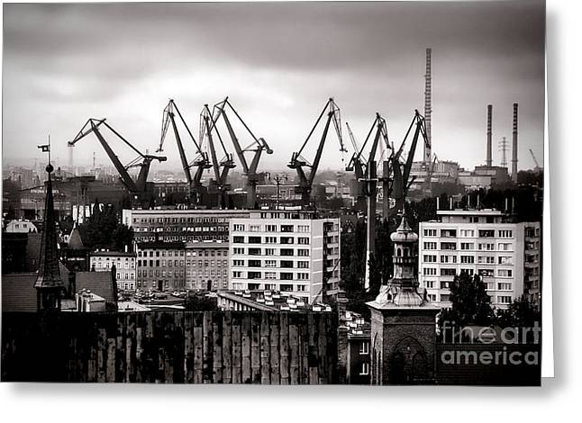 Gdansk Shipyard Greeting Card by Olivier Le Queinec