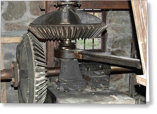 Gears Of The Old Grist Mill Greeting Card by John Small