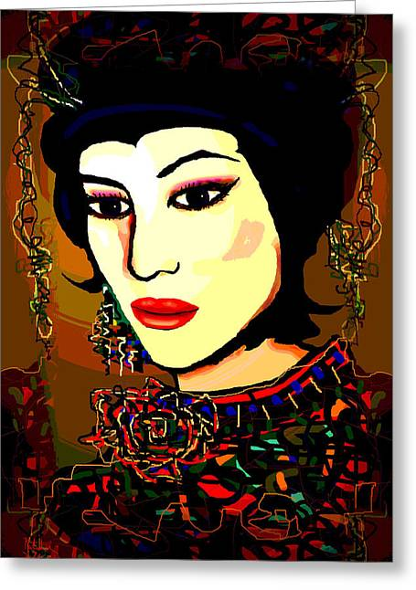 Geisha 5 Greeting Card by Natalie Holland