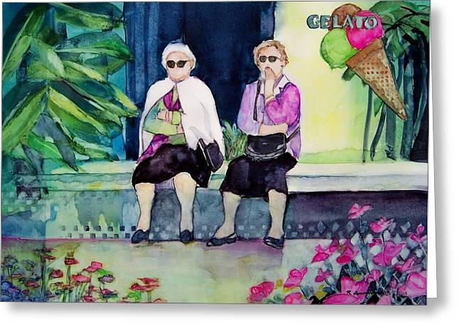Gelato Greeting Card by Regina Ammerman