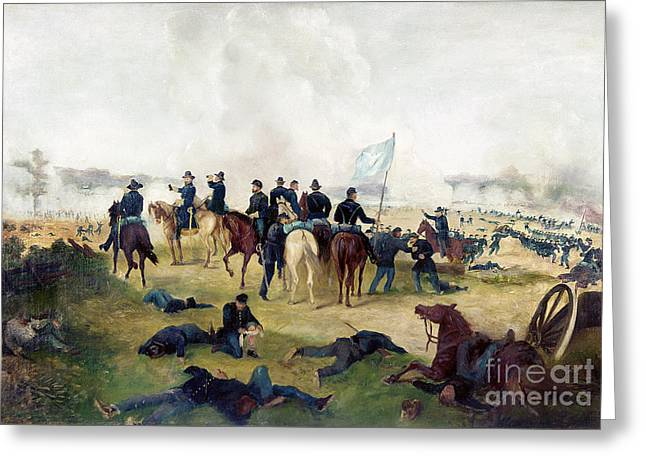 General Grant & Officers Greeting Card by Granger