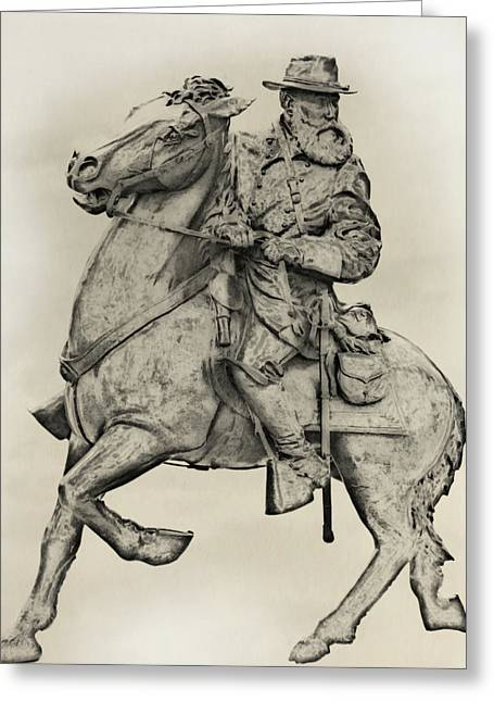 General James Longstreet Statue At Gettysburg  Greeting Card