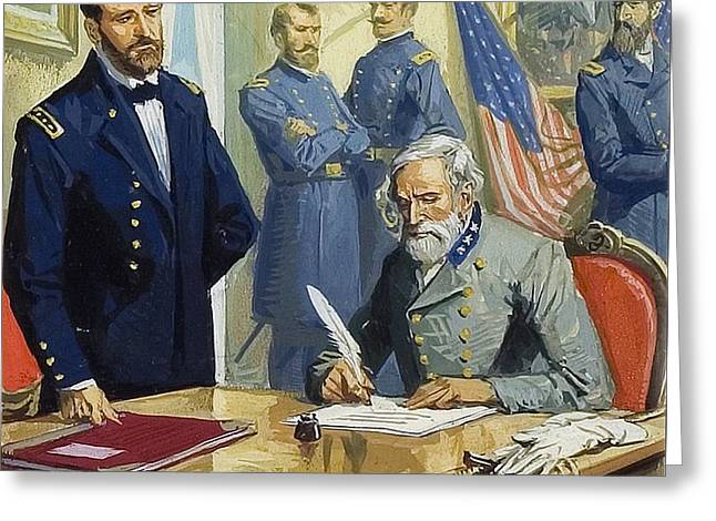 General Ulysses Grant Accepting The Surrender Of General Lee At Appomattox  Greeting Card