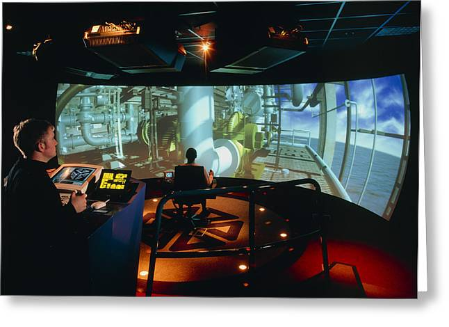 General View Of Reality Centre Simulator (oil Rig) Greeting Card by David Parker