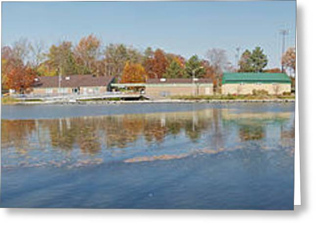 Greeting Card featuring the photograph Genesee River Panorama by William Norton