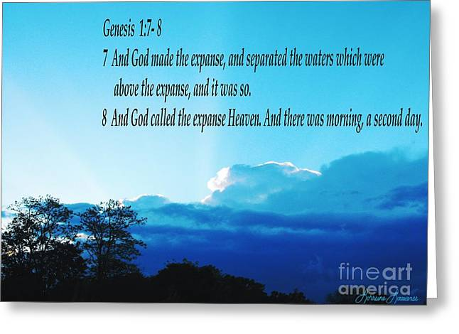 Genesis 1 Greeting Card by Lorraine Louwerse