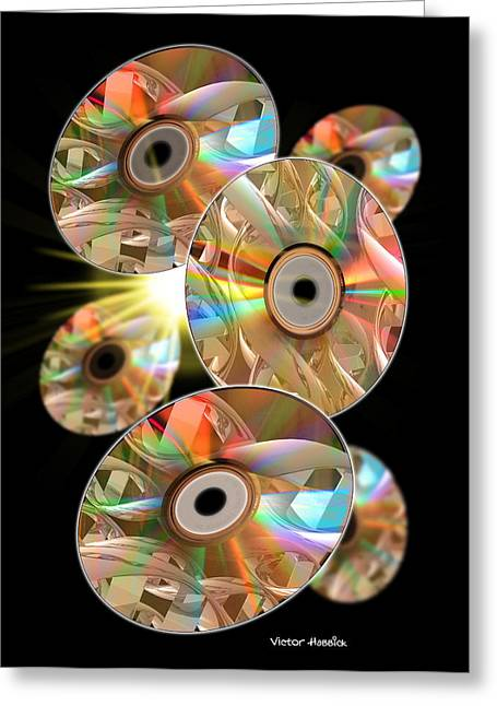Genetic Information Storage Greeting Card by Victor Habbick Visions