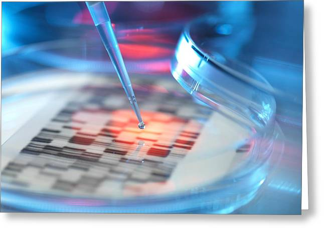 Genetic Research, Conceptual Image Greeting Card by Tek Image