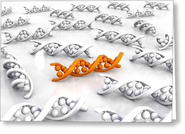 Genetic Uniqueness, Artwork Greeting Card by David Mack