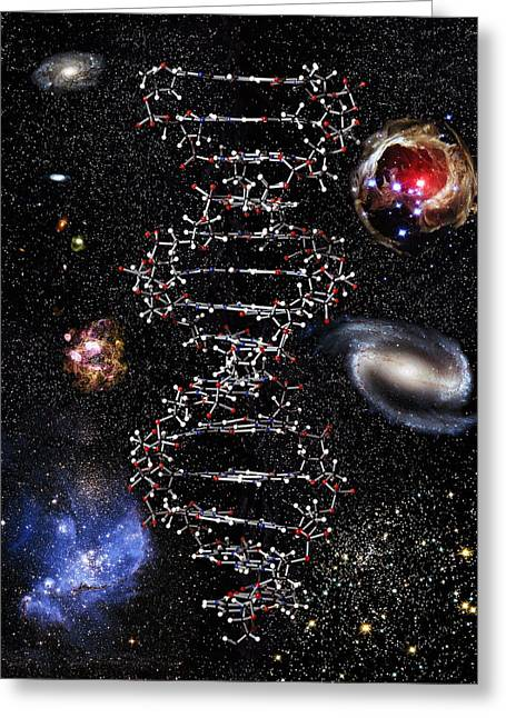 Genetic Universe Greeting Card