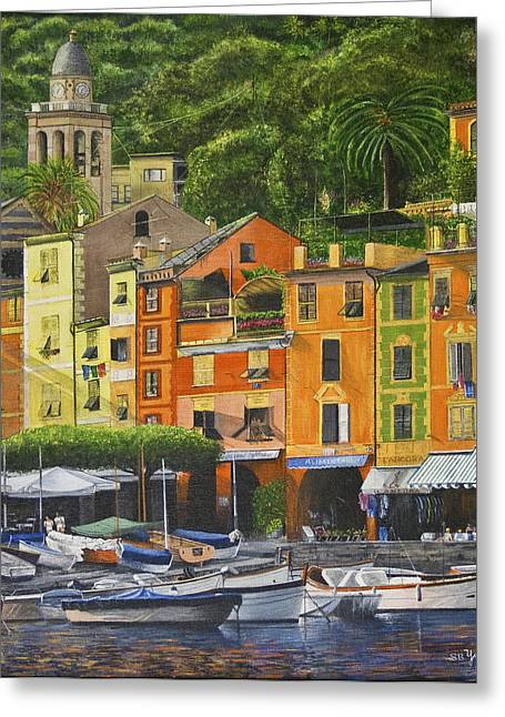 Genoa Marina Greeting Card