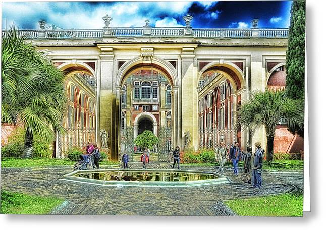 Genoa Royal Palace Greeting Card by Enrico Pelos