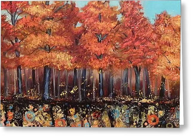 Gentle Autumn Breeze Greeting Card by Tammy Watt