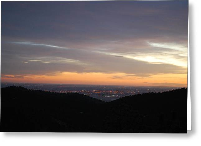 Gentle Sunrise Above Boulder Photo Greeting Card