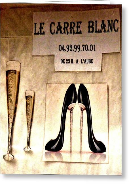 Gentleman's Club Cannes Greeting Card by Christine Burdine