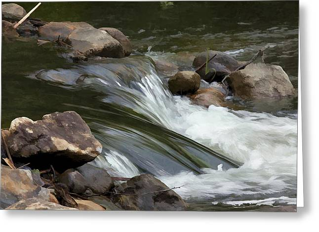 Greeting Card featuring the photograph Gently Down The Stream by John Crothers