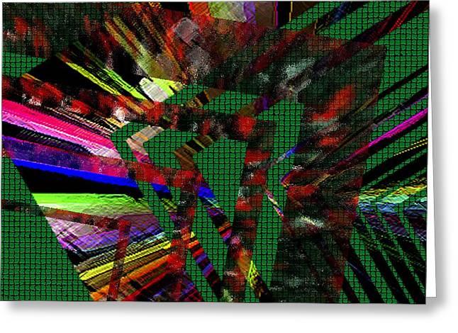Geometric Digital Art Greeting Card by Mario Perez