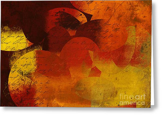 Geomix 05 - 02at02b Greeting Card by Variance Collections