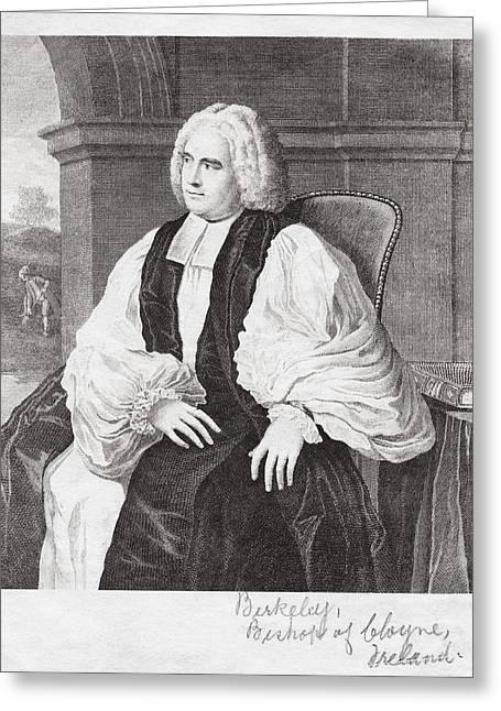 George Berkeley, Irish Philosopher Greeting Card by Humanities & Social Sciences Librarynew York Public Library