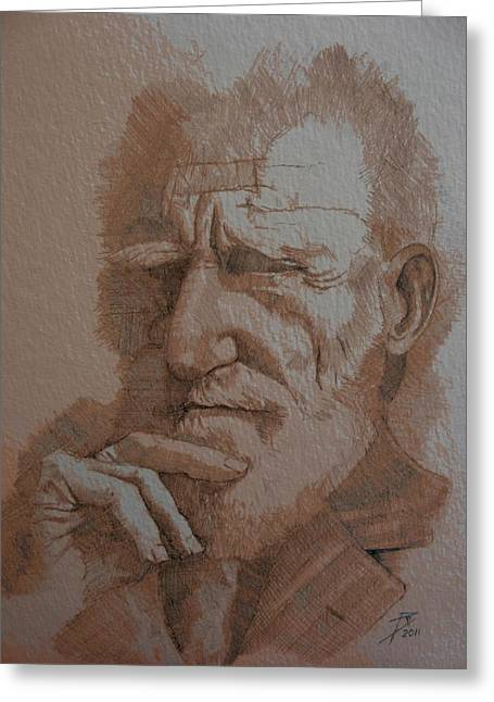 George Bernard Shaw Greeting Card by Ray Agius