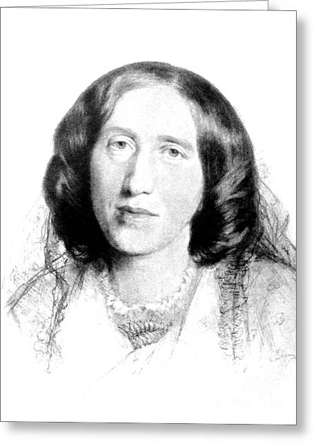 George Eliot, English Author Greeting Card by Photo Researchers