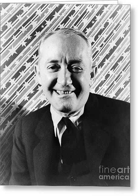 George M. Cohen (1878-1942). George Michael Cohen. American Actor, Composer And Producer. Photographed By Carl Van Vechten, 1933 Greeting Card by Granger