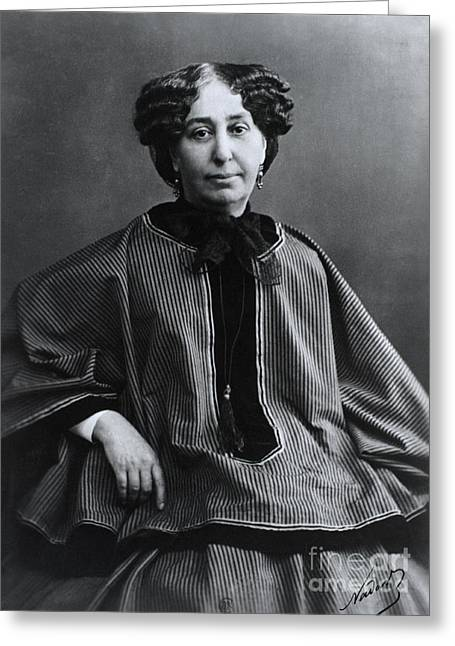 George Sand, French Author And Feminist Greeting Card by Photo Researchers, Inc.