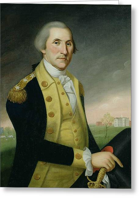 George Washington At Princeton Greeting Card by Charles P Polk